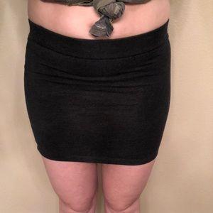 Dark grey mini skirt